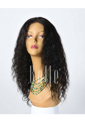 100% Top Quality Indian Virgin Hair Full Lace Wig Brazilian Curl Hot-selling