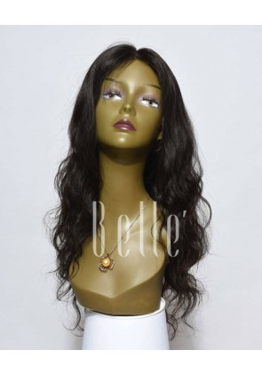 100% Premium Peruvian Virgin Hair Full Lace Wig Brazilian Wave In Stock