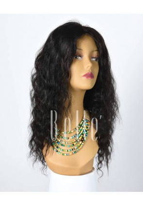 100% Best Human Hair Indian Virgin Hair Full Lace Wig Deep Body Wave