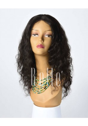 100% Best Human Hair Mongolian Virgin Hair Silk Top Full Lace Wig Deep Body Wave