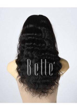 100% Best Human Hair Indian Remy Hair Silk Top Lace Front Wig Deep Body Wave