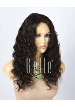 Deep Body Wave 100% Best Human Hair Chinese Virgin Hair Silk Top Lace Front Wig