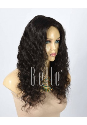 100% Best Human Hair Indian Virgin Hair Lace Front Wig Deep Body Wave