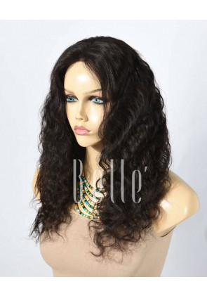 100% Best Human Hair Mongolian Virgin Hair Silk Top Lace Front Wig Deep Body Wave