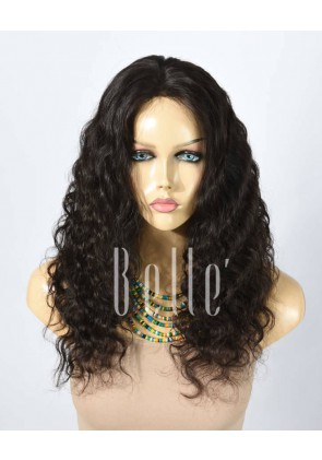 Deep Body Wave 100% Best Human Hair Malaysian Virgin Hair Silk Top Lace Front Wig