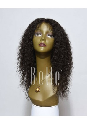 Deep Wave 100% Malaysian Virgin Hair Durable Lace Front Wig