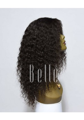 Deep Wave 100% Indian Virgin Hair Lace Front Wig Durable