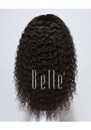 Deep Wave 100% Indian Remy Hair Silk Top Lace Front Wig Invisible knots