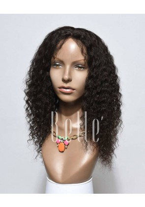 Deep Wave 100% Peruvian Virgin Hair Lace Front Wig With Natural Looking Baby Hair