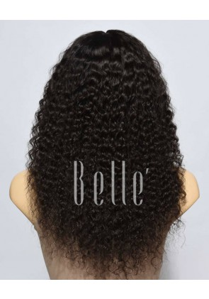 Deep Wave 100% Malaysian Virgin Hair Full Lace Wig Durable