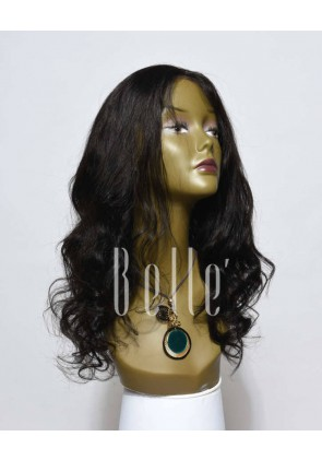 European Curly 100% Premium Unprocessed Peruvian Hair Lace Front Wig With Stretchable lace