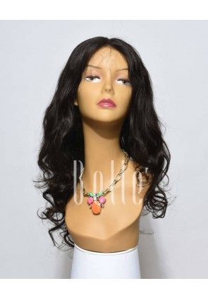 European Curly 100% Premium Human Hair Silk Top Lace Front Wig Chinese Virgin Hair