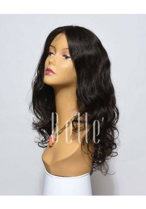 European Curly 100% Premium Indian Virgin Hair Lace Front Wig