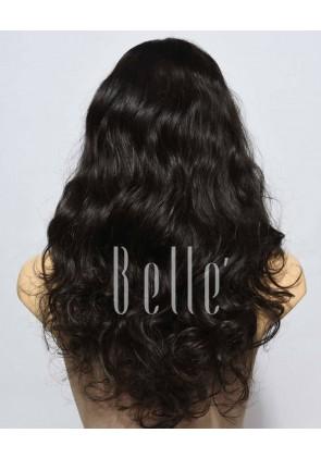 European Curly 100% Premium Human Hair Silk Top Full Lace Wig Brazilian Virgin Hair