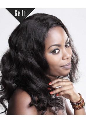 European Curly 100% Premium Chinese Virgin Hair Silk Top Full Lace Wig Natural Color