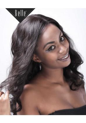 European Curly 100% Premium Peruvian Virgin Hair Silk Top Full Lace Wig Natural Color