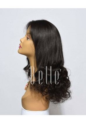 Half Spiral Curl Best Swiss Full Lace Wig Un-processed Peruvian Virgin Hair