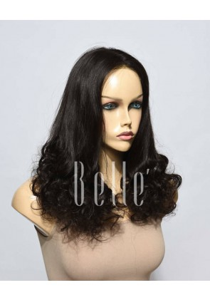 Half Spiral Curl Comfortable Swiss Lace Front Cap Wig Chinese Virgin Hair
