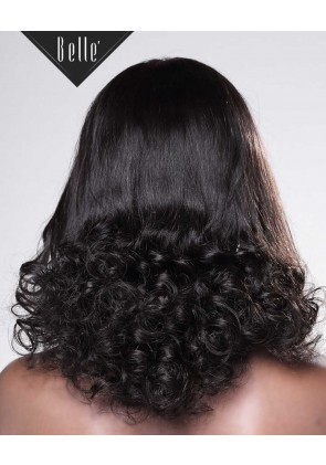 Half Spiral Curl Most Natural looking Silk Top Full Lace Wig Peruvian Virgin Hair