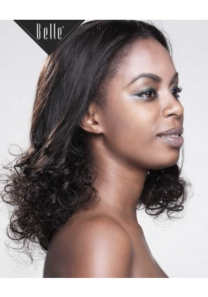 "Half Spiral Curl 4""X4"" Silk Base Full Swiss Lace Wig Malaysian Virgin Hair"