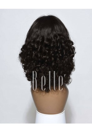 Best Indian Virgin Hair Half Tight Spiral Curl Silk Top Full Lace Wig