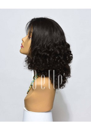 Best Malaysian Virgin Hair Half Tight Spiral Curl Lace Front Wig