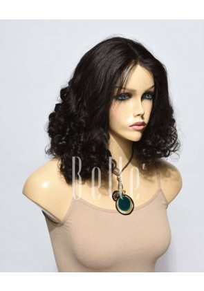 Best Malaysian Virgin Hair Half Tight Spiral Curl Full Lace Wig