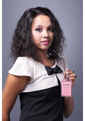 100% High Quality Brazilian Virgin Hair Full Lace Wig 25mm Curl