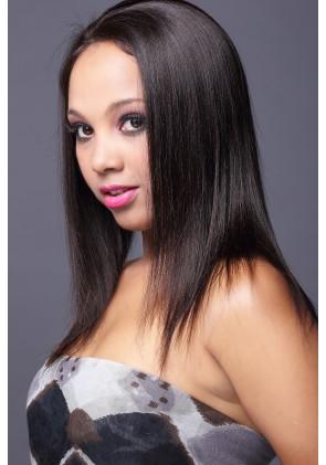 Best Seller Light Yaki 100% Premium Brazilian Virgin Hair Full Lace Wig