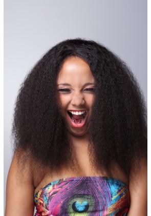 100% Cuticle Full Brazilian Hair Afro Full Lace Wig Jeri Curl