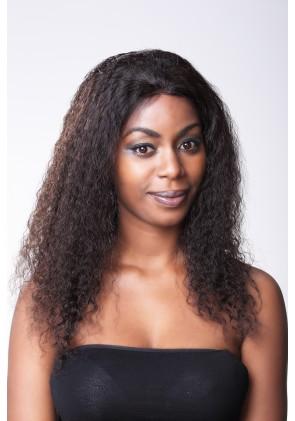 Spanish Wave Brazilian Virgin Hair Full Lace Wig Free Parting