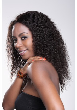 Hand-tied Whole Lace Wig Deep Wave Best Brazilian Virgin Hair