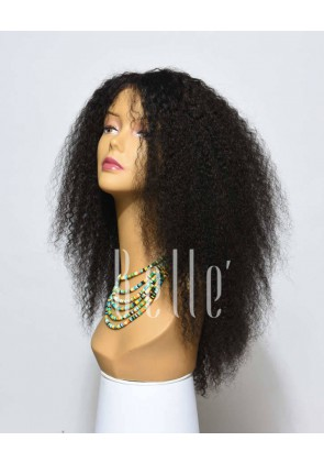 Jeri Curl 100% Real Human Hair Chinese Virgin Hair Afro Silk Top Lace Front Wig