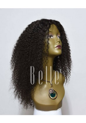 100% High Quality Human Hair Indian Remy Hair Lace Front Wig Kinky Curl