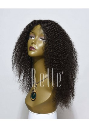 Kinky Curl 100% High Quality Human Hair Malaysian Virgin Hair Lace Front Wig