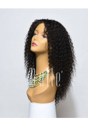 100% High Quality Human Hair Mongolian Virgin Hair Full Lace Wig Kinky Curl