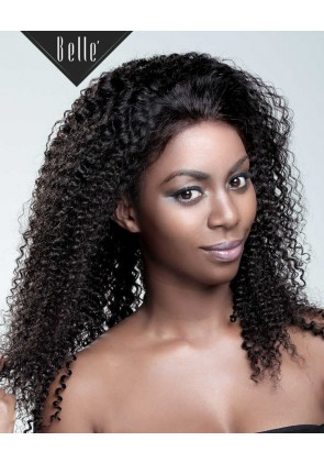 100% High Quality Malaysian Virgin Hair Silk Top Full Lace Wig Kinky Curl Natural Color