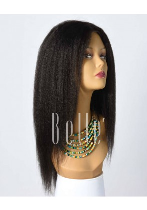 Most Popular Kinky Straight Inspired Chinese Virgin Hair Full Lace Wig