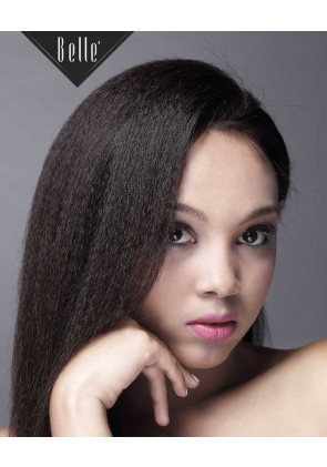 African American Favourite Kinky Straight Malaysian Virgin Hair Silk Top Full Lace Wig