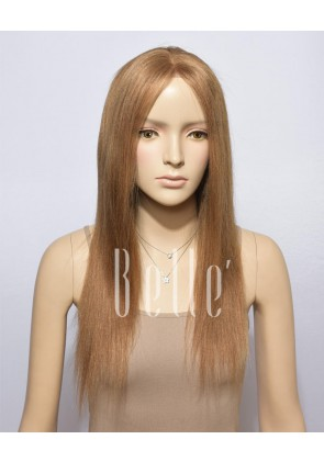 100% Best Chinese Virgin Hair #27/30 Mixed Brown Color Full Lace Wig Light Yaki