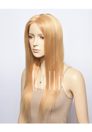 Blonde With #613 Highlights 100% Premium Chinese Virgin Hair Full Lace Wig Light Yaki
