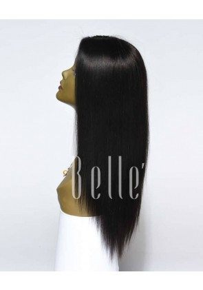 "Best Seller Light Yaki 100% Premium Brazilian Virgin Hair 4""X 4"" Silk Top Lace Front Wig"