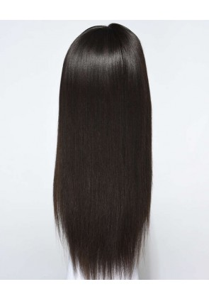 Glueless Full Lace Wigs Indian Remy Hair Light Yaki