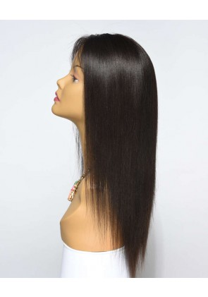 Most Popular Light Yaki 100% Premium Peruvian Virgin Hair Silk Top Lace Front Wig