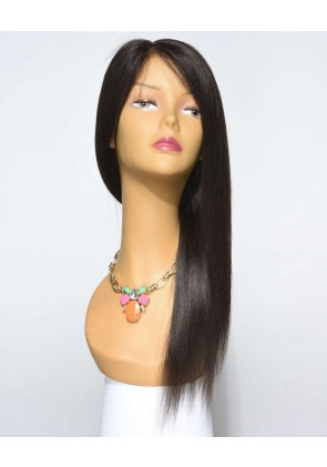 Best Seller Light Yaki 100% Premium Chinese Virgin Hair Silk Top Lace Front Wig