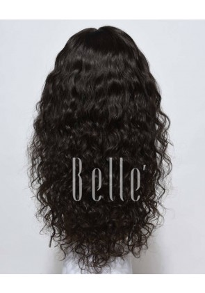 Natural Curl Top-quality Peruvian Virgin Hair Full Lace Wig Free Parting