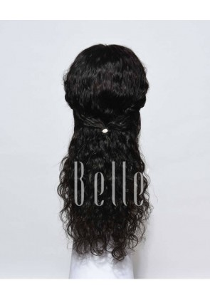Natural Curl Top-quality Malaysian Virgin Hair Full Lace Wig