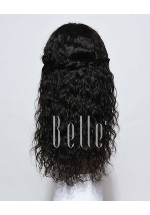 Natural Curl Top-quality Indian Virgin Hair Swiss Full Lace Wig