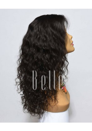 Natural Curl Top-quality Indian Remy Hair Full Lace Wig