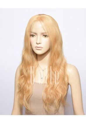 Natural Wave #27 Blonde Color 100% Premium Chinese Virgin Hair Full Lace Wig